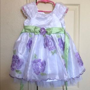 White floral dress size 2t